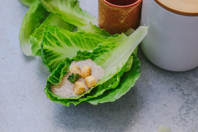 Jimbee Snack gefüllt mit weißem Knoblauch
